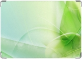 Обложка на автодокументы с уголками, зеленая абстракция