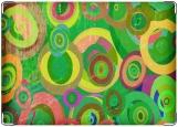 Обложка на автодокументы с уголками, круги