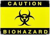 Обложка на автодокументы с уголками, биологическая опасность