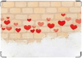 Обложка на паспорт с уголками, стена влюбленных