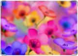 Обложка на паспорт с уголками, Яркие цветочки