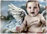 Обложка на паспорт с уголками, Ангелочек
