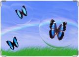 Обложка на паспорт с уголками, Бабочки в пузыре.