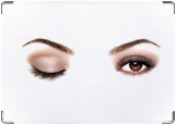 Обложка на автодокументы с уголками, eyes