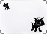 Обложка на автодокументы с уголками, Котик