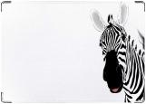 Обложка на автодокументы с уголками, зебра
