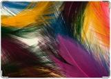 Обложка на автодокументы с уголками, перья