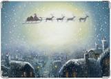 Обложка на автодокументы с уголками, рождественская ночь