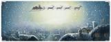 Обложка на зачетную книжку, рождественская ночь