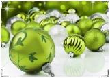 Обложка на паспорт с уголками, зеленные шарики
