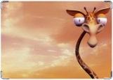 Обложка на паспорт с уголками, жираф