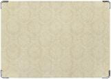 Обложка на паспорт с уголками, white pattern