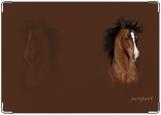 Обложка на паспорт с уголками, лошадь