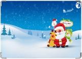 Обложка на автодокументы с уголками, mery christmas