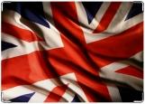 Обложка на паспорт с уголками, UK flag