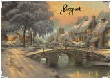 Обложка на паспорт с уголками, Winter holidays