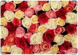 Обложка на автодокументы с уголками, розы