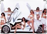 Обложка на автодокументы с уголками, Lamborghini girls