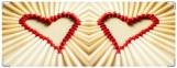 Обложка на зачетную книжку, Сердце из спичек