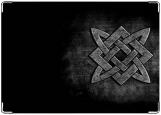 Обложка на паспорт с уголками, Квадрат сварога. Символ Северного Братства