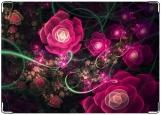 Обложка на паспорт с уголками, Розовые цветы