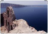 Обложка на паспорт с уголками, Крит Руины над морем