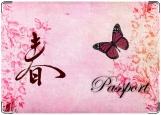 Обложка на паспорт с уголками, Весна