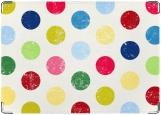 Обложка на паспорт с уголками, multy color polka dots M