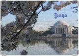 Обложка на паспорт с уголками, Дом у озера