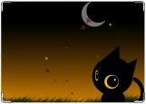 Обложка на автодокументы с уголками, кот