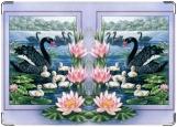 Обложка на паспорт, Лебеди