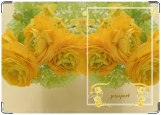Обложка на паспорт с уголками, романтик