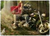 Обложка на автодокументы с уголками, Красная Шапочка.