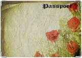 Обложка на паспорт с уголками, мятые цветы
