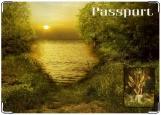 Обложка на паспорт с уголками, фея