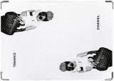 Обложка на автодокументы с уголками, CHANEL