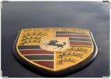 Обложка на автодокументы с уголками, Porsche
