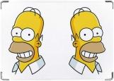 Обложка на паспорт с уголками, Улыбка Гомера