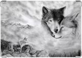 Обложка на паспорт с уголками, волки