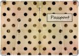 Обложка на паспорт с уголками, Винтажная