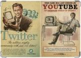 Обложка на паспорт с уголками, ютюб и твиттер
