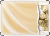 Обложка на паспорт с уголками, Сепия