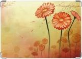 Обложка на автодокументы с уголками, Flowers