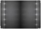 Обложка на паспорт с уголками, Металл с подсветкой
