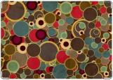 Обложка на паспорт с уголками, Цветные круги Абстракция