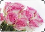 Обложка на автодокументы с уголками, Розовые розы