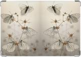 Обложка на паспорт с уголками, бабочки на колючке