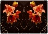 Обложка на паспорт с уголками, лилии
