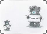 Обложка на паспорт, Мишка