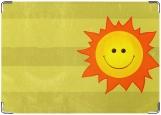 Обложка на паспорт с уголками, солнце